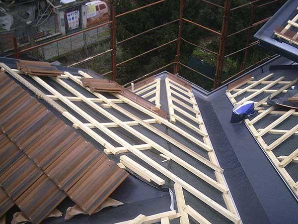 Sostituzione tegole tetto